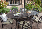 2018 Hartman Capri 6 Seat Dining Set with Oval Table - Bronze - close-up of table
