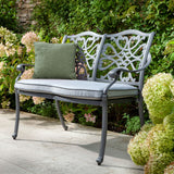 2019 Hartman Capri 2 Seater Garden Bench With Weatherready Water-Resistant Cushion In Situ