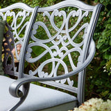 Close Up Of 2019 Hartman Capri 2 Seater Garden Bench Back Support Pattern