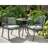 2019 Hartman Capri Garden Bistro Set - Antique Grey/Platinum