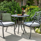 2019 Hartman Capri Garden Bistro Set - Antique Grey/Platinum chairs out