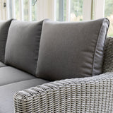2019 Kettler Palma Casual Dining Corner Set close up of cushions