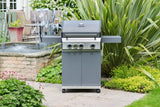 Grillstream Stainless Steel Gas BBQ 3 Burner on patio