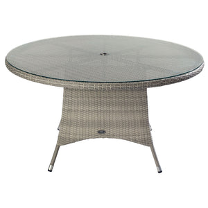 2019 Hartman Curve 6 Seat Round Garden Dining Set With Lazy Susan - Cool Grey / Charcoal table on white background