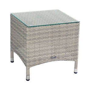 2019 Hartman Curve Garden Side Table - Cool Grey on white background