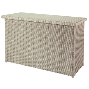 Cool Grey 2019 Hartman Curve / Linear Outdoor Cushion Storage Box On A White Background
