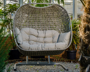 Close up of Bramblecrest St Ives Double Hanging Cocoon Swing Seat