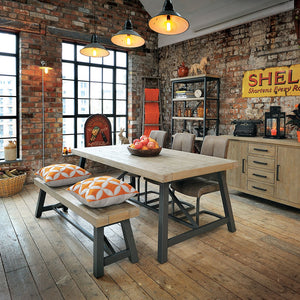 Urban Extending Dining table in loft style decor