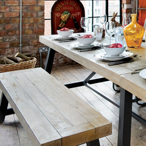 Urban Extending Dining Table and Bench