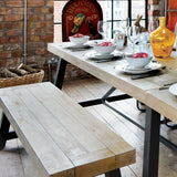 Urban Dining Bench and Table