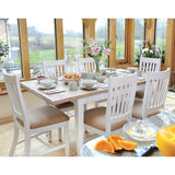 Classic Extending Dining Table with 6 Classic Dining Chairs