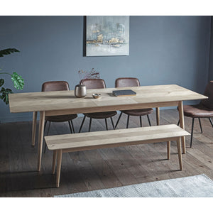 The Modern Light Oak Extending Dining Table (2m)