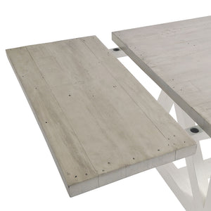 The White and Grey Extending Dining Table 1.6m