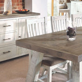 Modern Farmhouse Extending Dining Table Set (2m)