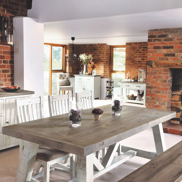 Modern Farmhouse Extending Dining Table Set (1.6m)