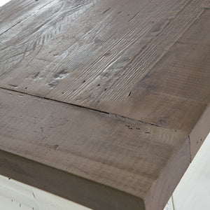 Close-up of Modern Farmhouse Ding table surface