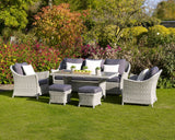 Bramblecrest Monterey 3 Seat Sofa Set With Rectangular Table & Armchairs