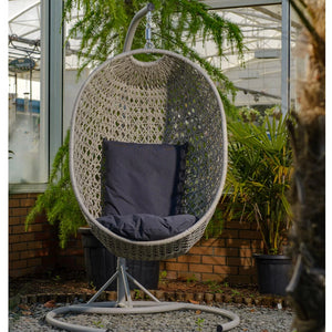 Bramblecrest Bredon Hanging One Person Cocoon/egg chair with Graphite Cushions