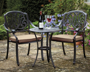 2018 Hartman Amalfi (cast iron) 2 seat Bistro Set on patio