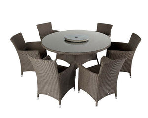 2018 Hartman Appleton 6 Seat Dining Set with Round Table - Dark Grey