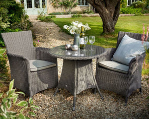 2018 Hartman Appleton 2 Seat Bistro Set - Dark Grey - in a garden