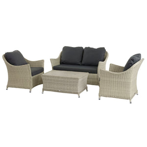 2019 Bramblecrest Monterey 2 Seater Outdoor Sofa Set With Ceramic Coffee Table on white background