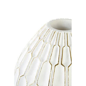 Handcrafted honeycomb vase - small