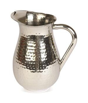 Stainless steel tall jug with dimpled surface