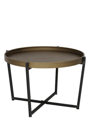 Light & Living Bronze round coffee table with raised rim