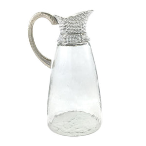 Glass jug with crystal neck