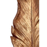Copper feather sculpture