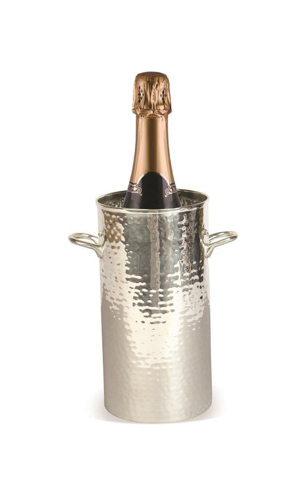 Classic tall wine bottle holder with champagne bottle inside