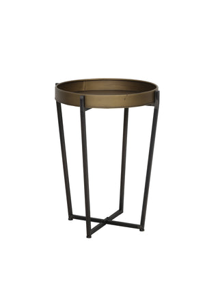 Light & Living Bronze side table with raised rim