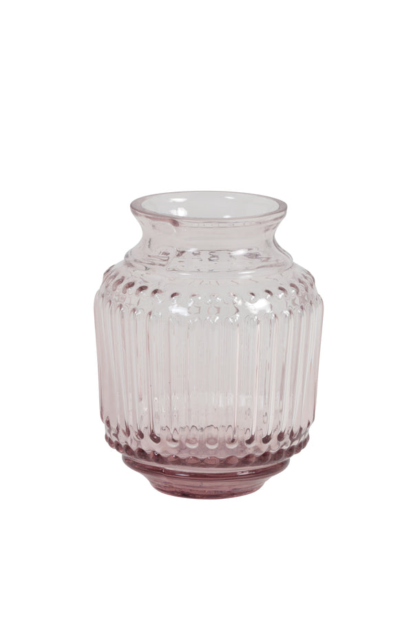 Small pink glass vase