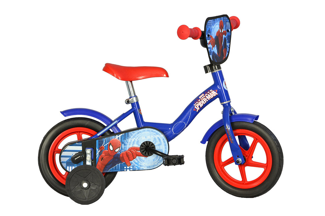 Spiderman 10 Licensed Kids Bike With Stabilisers Happyhometoys
