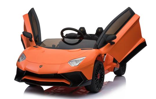 Lamborghini Aventador 12v Licensed Battery Kids Ride On Car , Orange