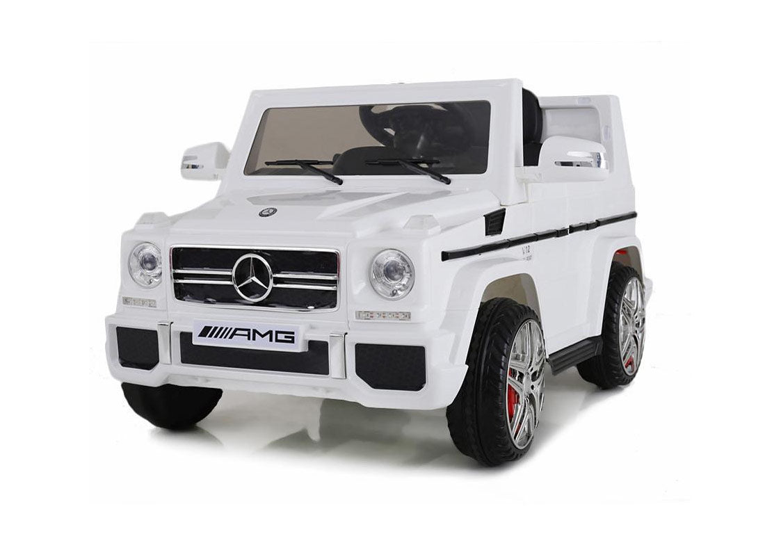 Mercedes Benz G65 G Wagon Licensed 12v Battery Kids Ride On Jeep Whi Happyhometoys