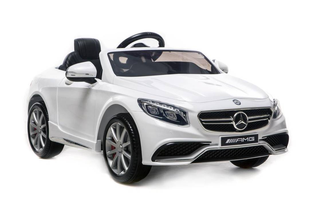 Mercedes Benz S63 Amg Licensed 12v Battery Kids Ride On Car White Happyhometoys