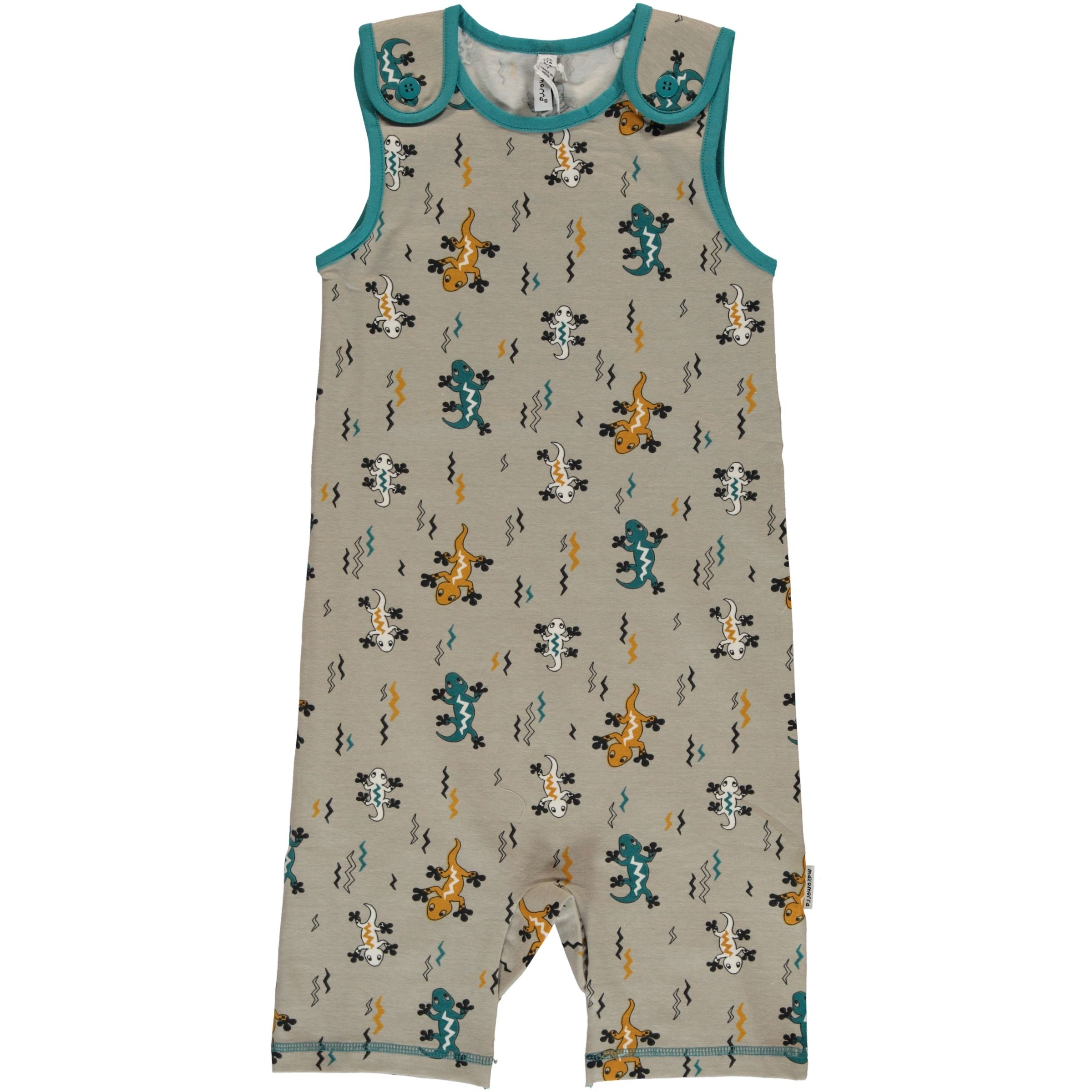 Maxomorra Playsuit Short Lizard - little-tiger-togs
