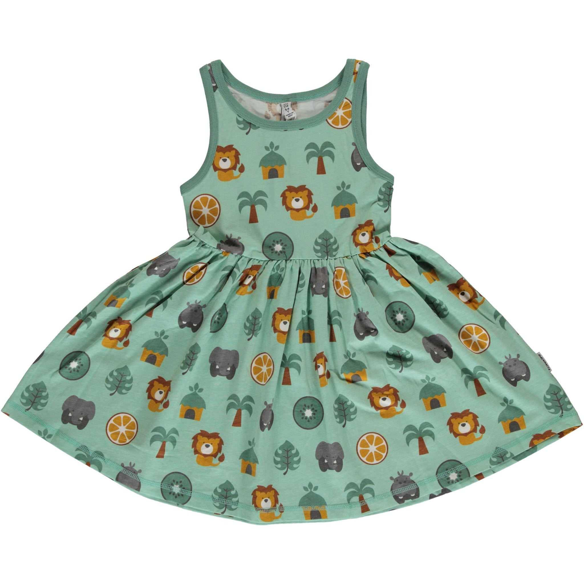 Maxomorra Dress Spin Sleeveless Jungle - little-tiger-togs