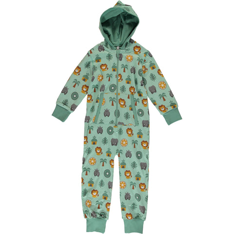 Maxomorra Hooded One Piece Jungle - little-tiger-togs