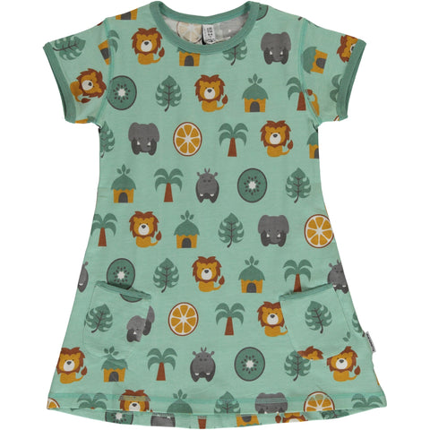 Maxomorra Tunic SS Jungle - little-tiger-togs