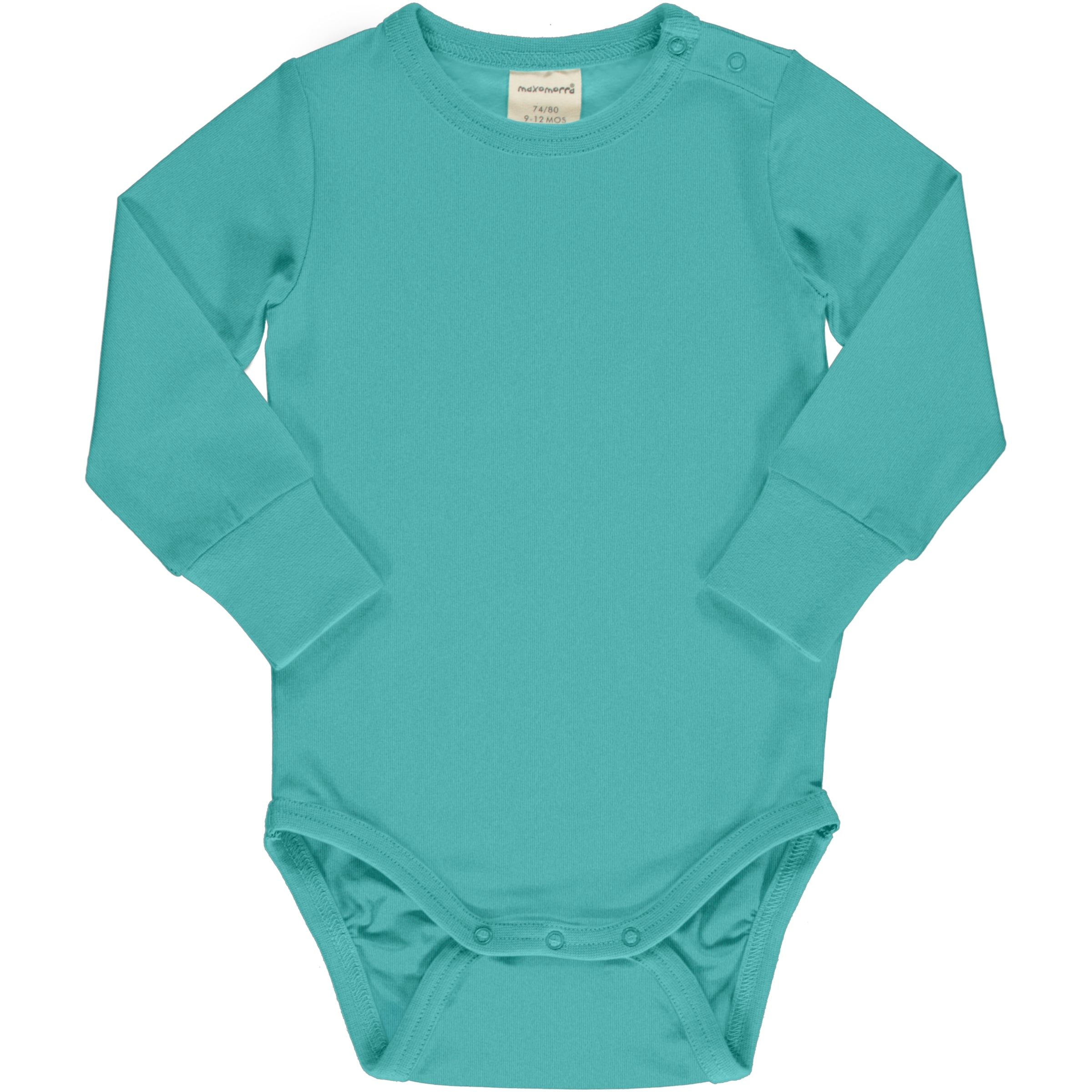 Maxomorra Body LS Solid Aqua