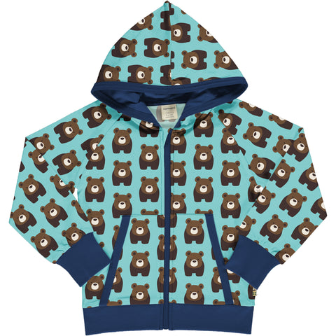 Maxomorra Cardigan Hood Sweat Bear,little-tiger-togs.