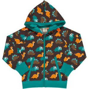 Maxomorra Cardigan Hood Sweat Dinosaurs