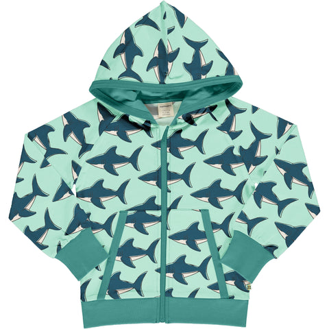 Maxomorra Cardigan Hood Sweat Shark,little-tiger-togs.
