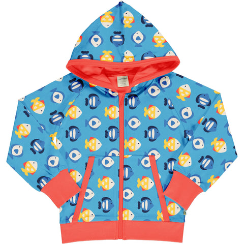 Maxomorra Cardigan Hood Tropical Aquarium,little-tiger-togs.