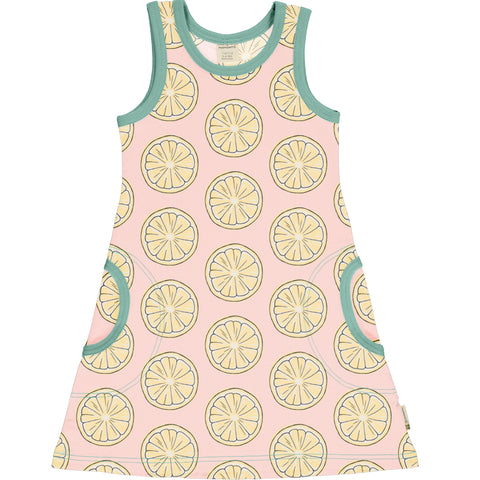 Maxomorra Dress NS Fresh Lemon