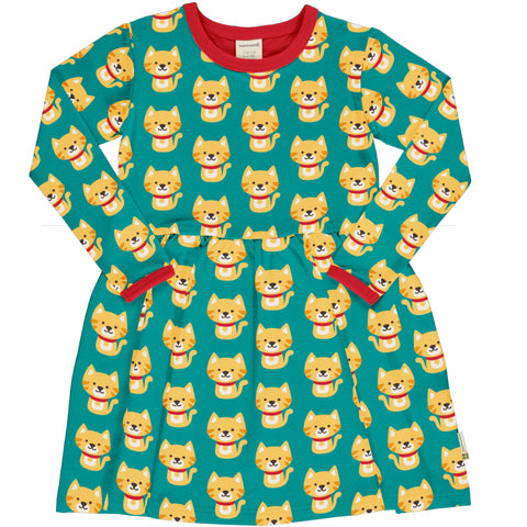 Maxomorra Dress Spin LS Cat