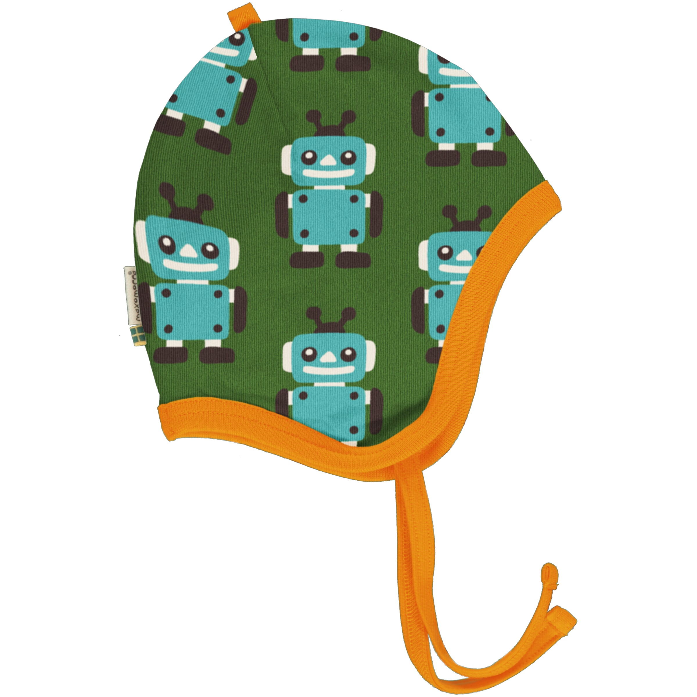 Maxomorra Hat Helmet Velour Robot,little-tiger-togs.